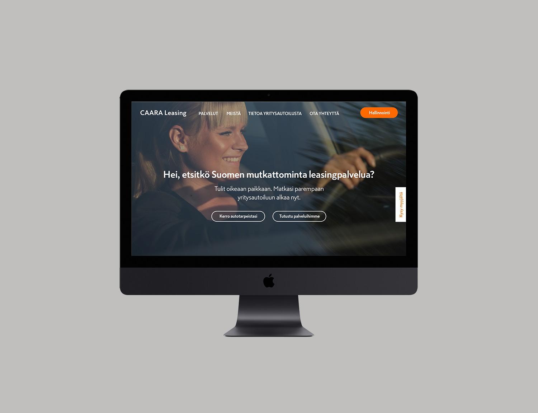 CAARA Leasing website homepage