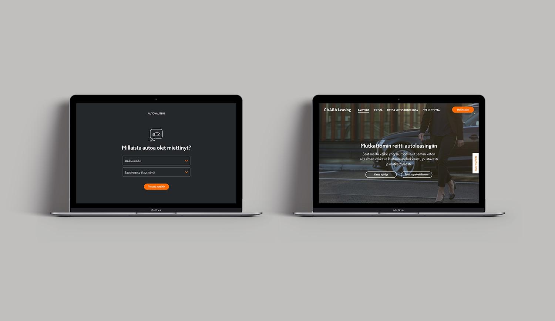 CAARA Leasing website pageviews