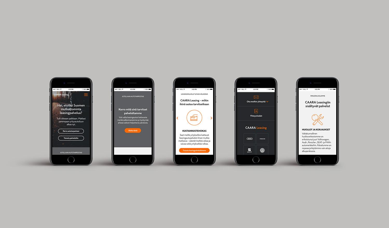 CAARA Leasing website mobile