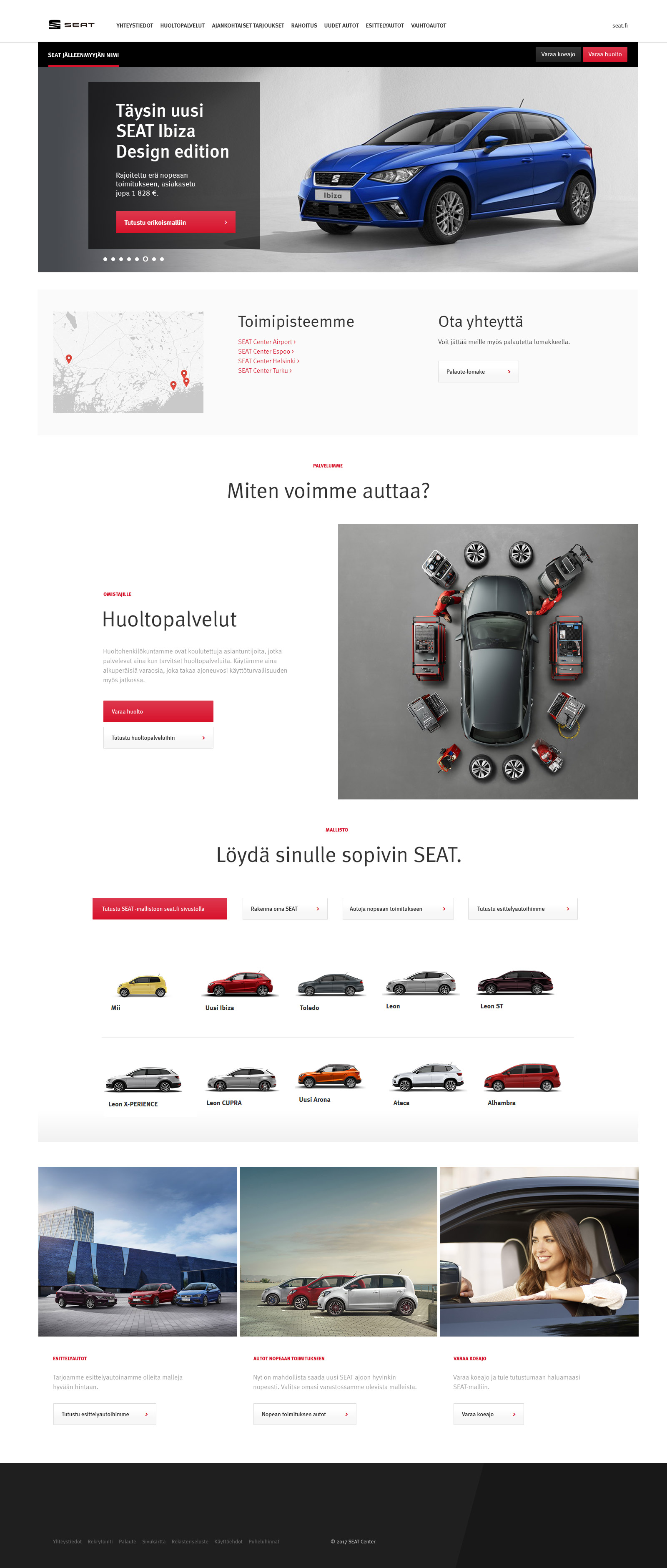 Seat Center website