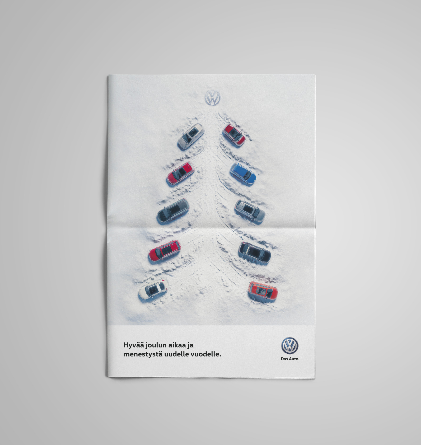 Volkswagen Christmas campaign newspaper