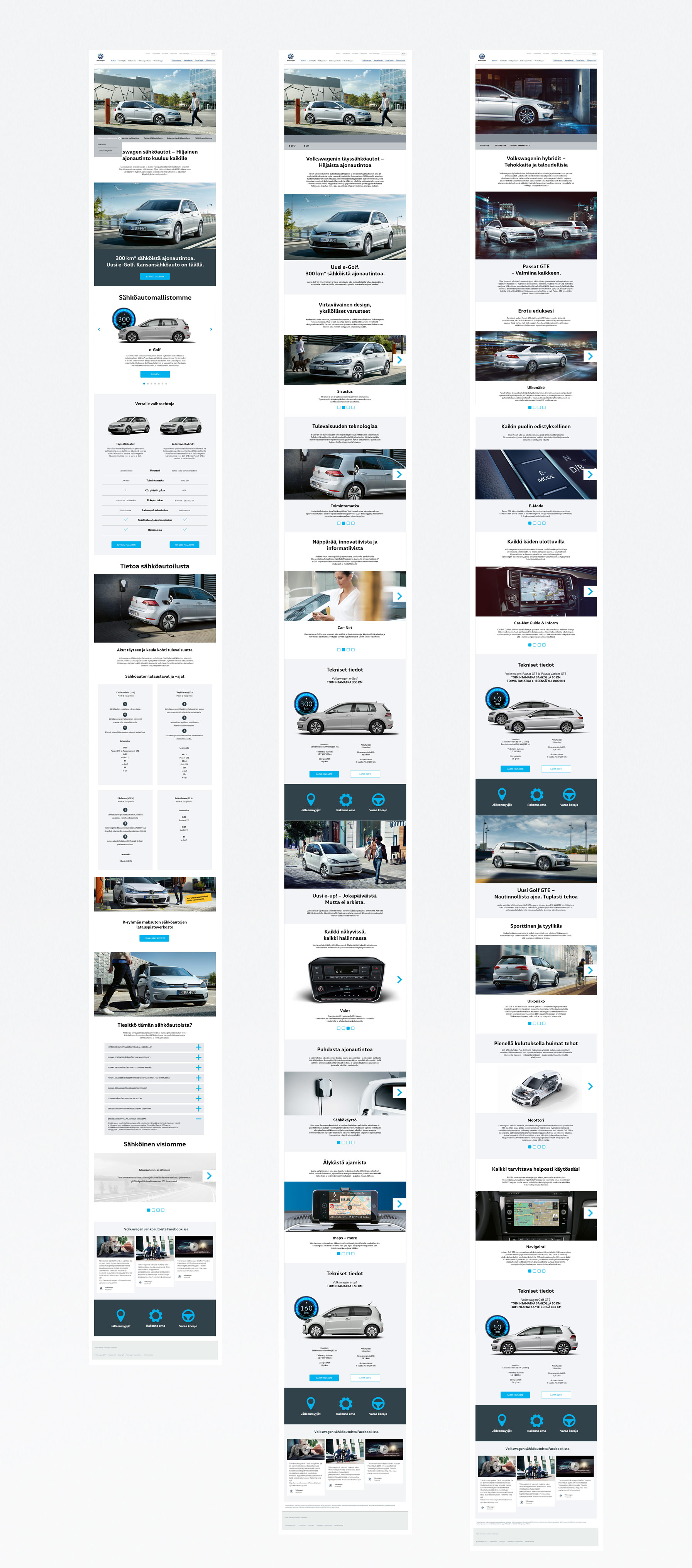 Volkswagen sähköautot website pages
