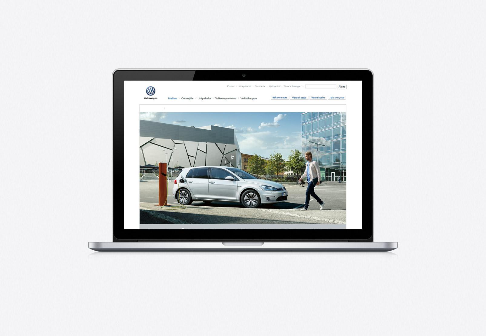 Volkswagen sähköautot website desktop