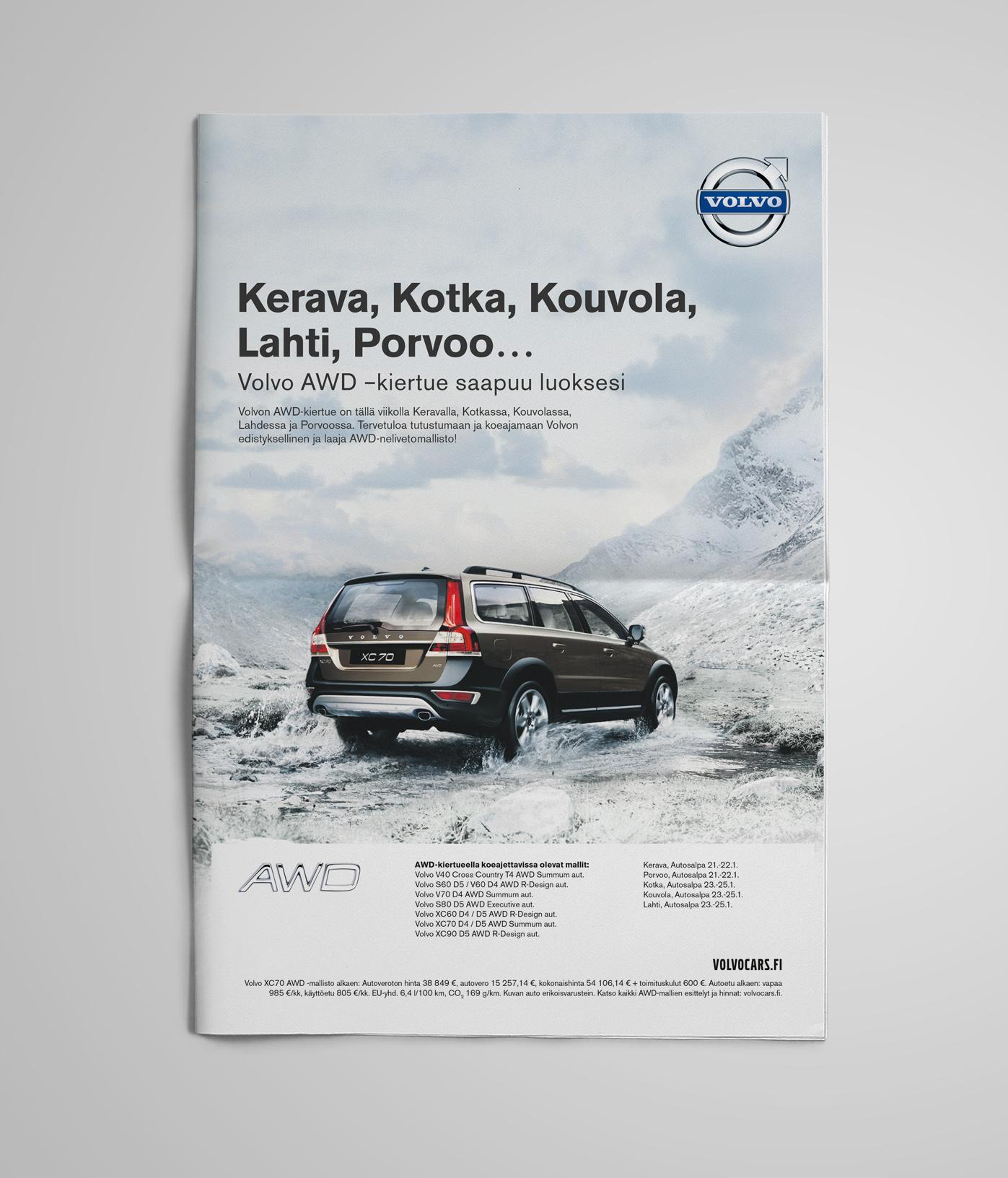 Volvo AWD Newspaper