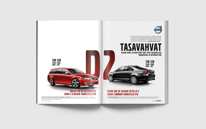 Volvo D2 Campaign magazine spread