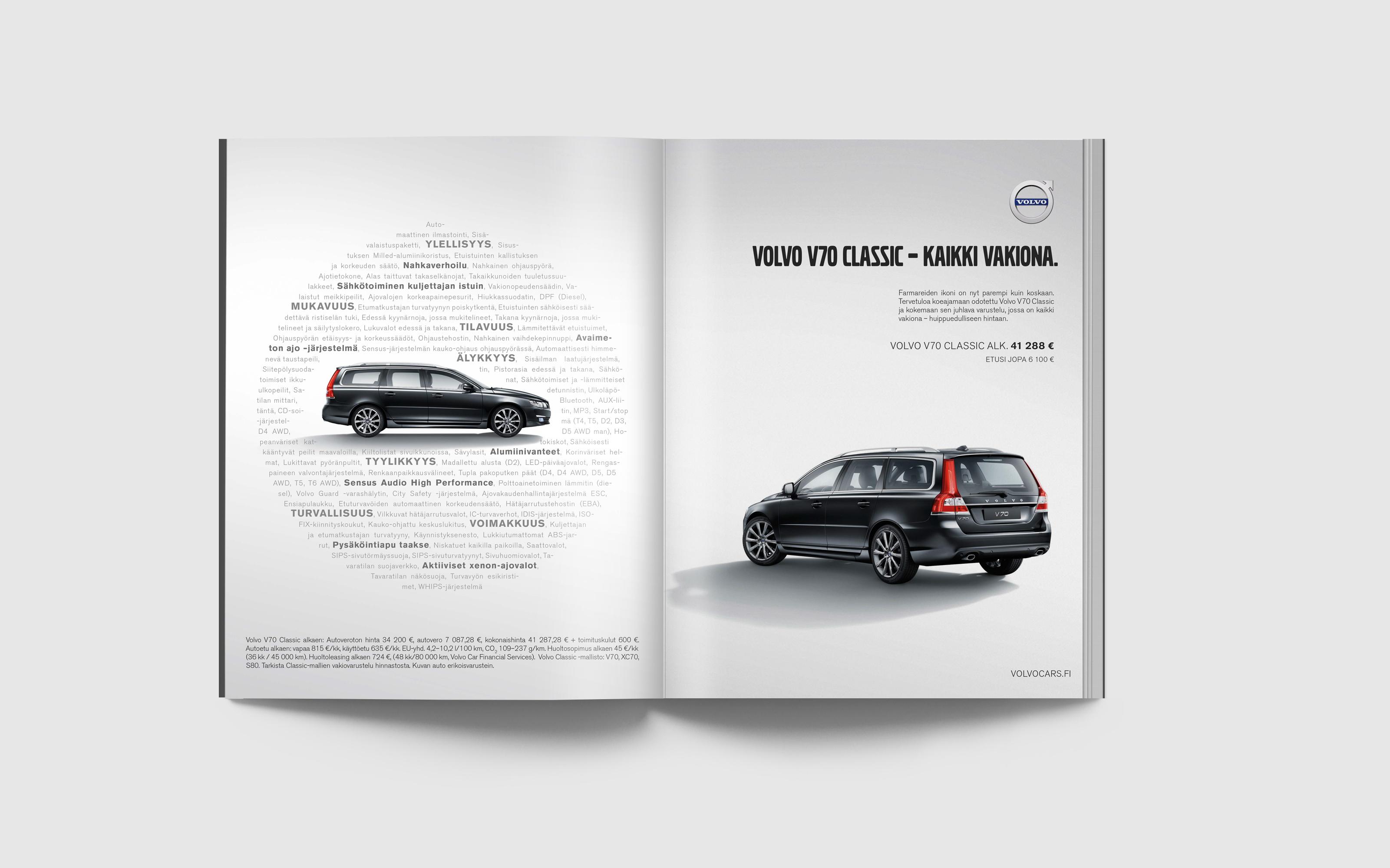 Volvo V70 Classic print