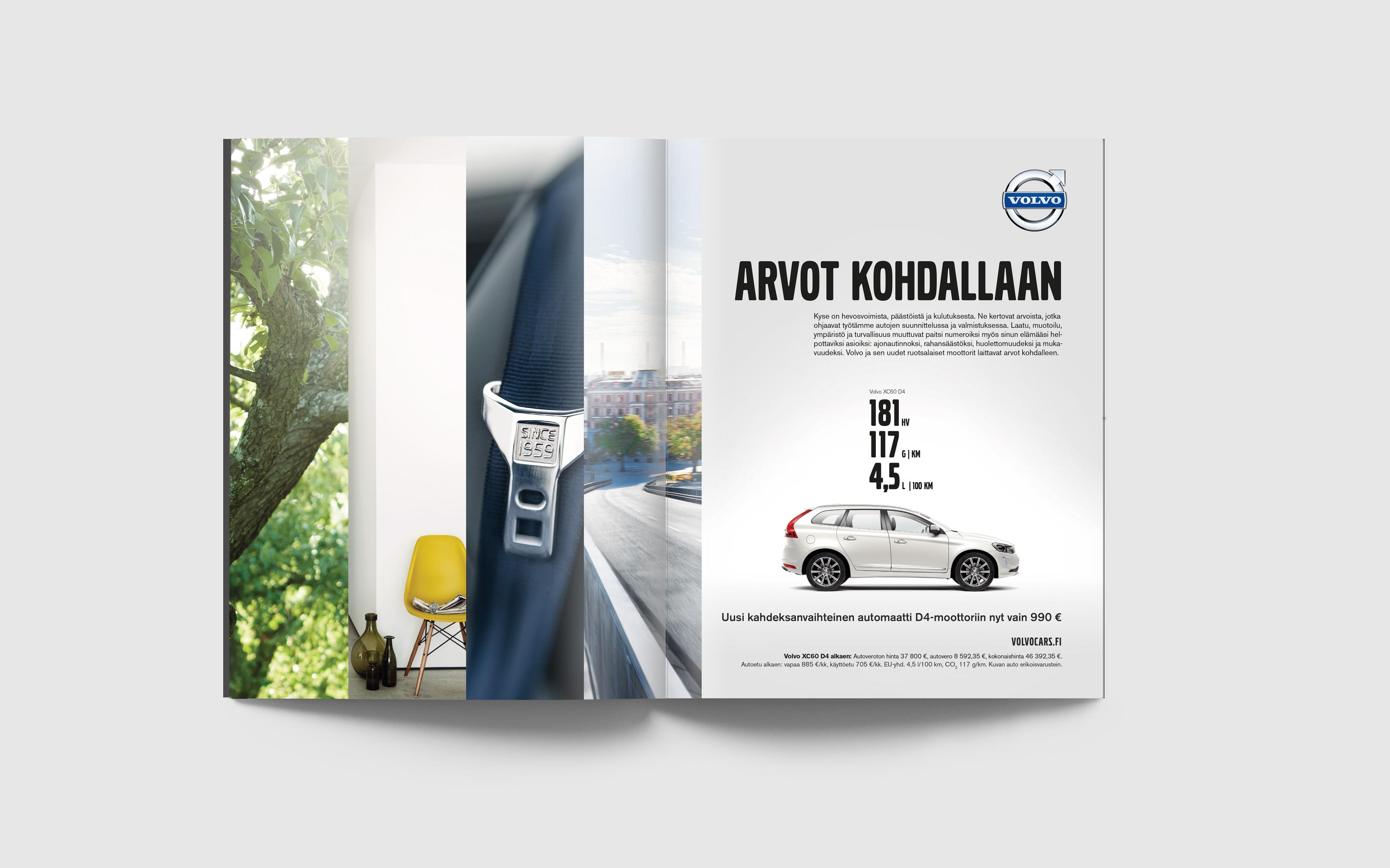 Volvo arvot spread