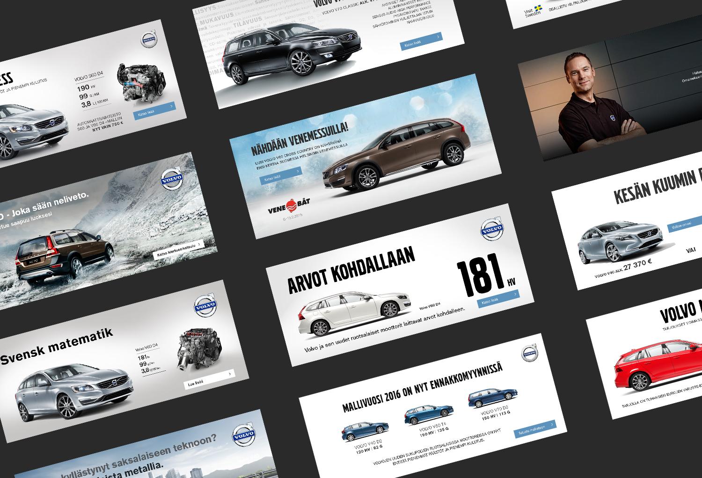 Volvo display ads