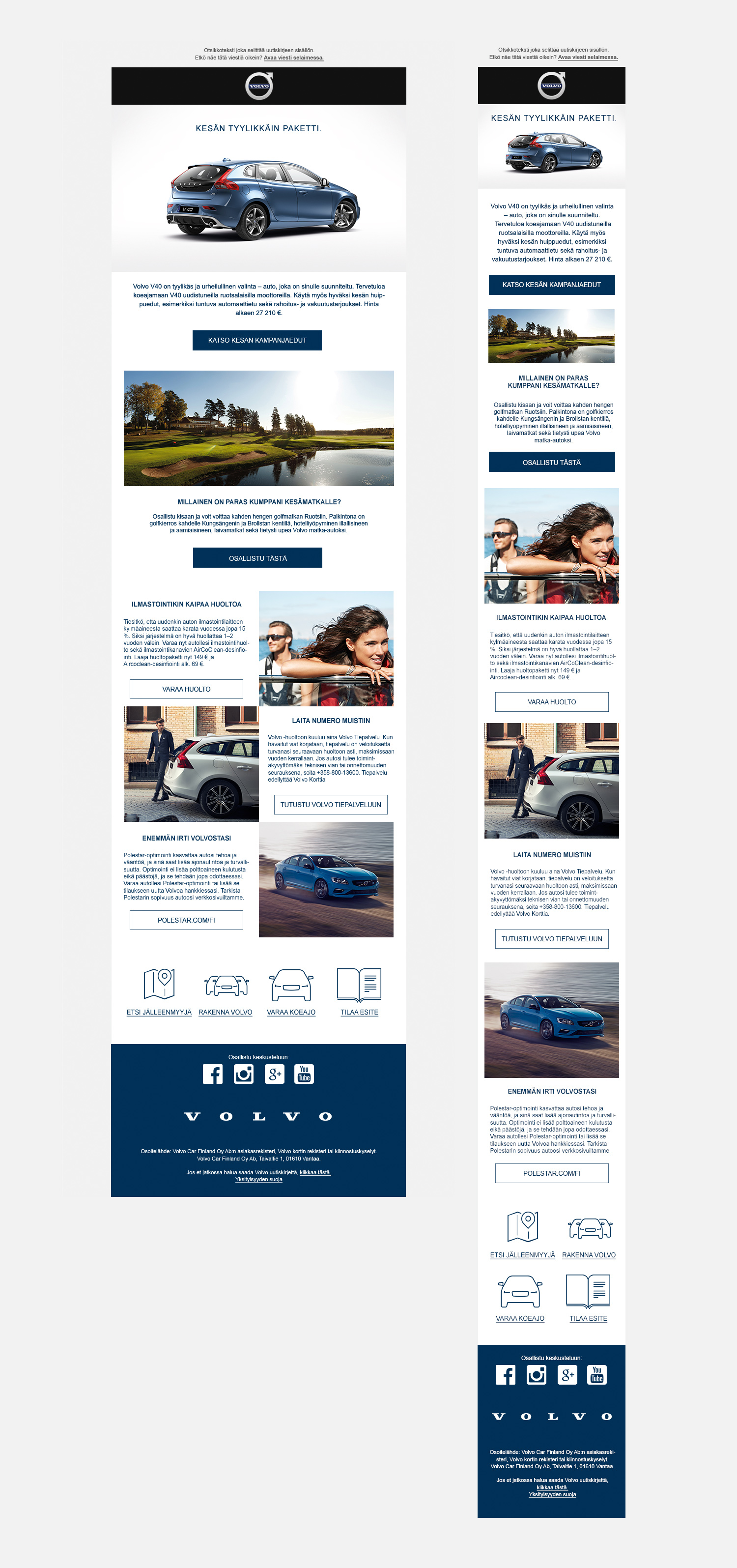 Volvo Newsletter template