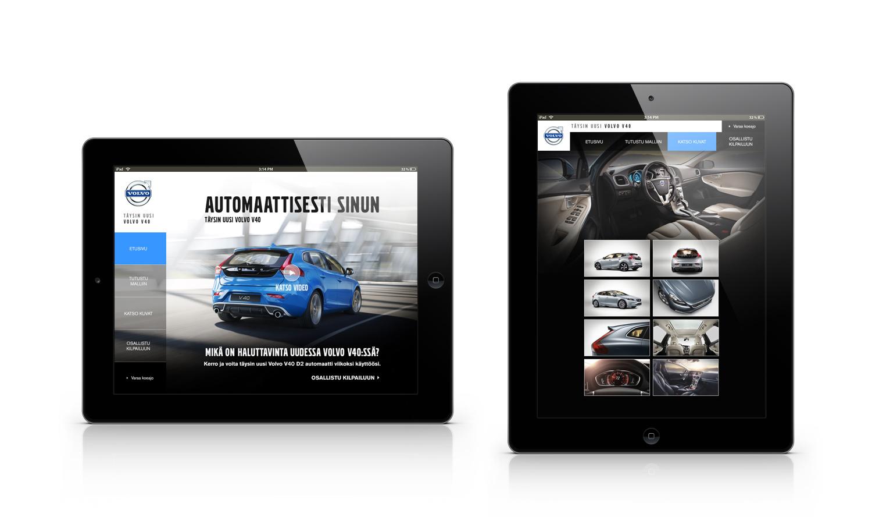 Volvo V40 iPad