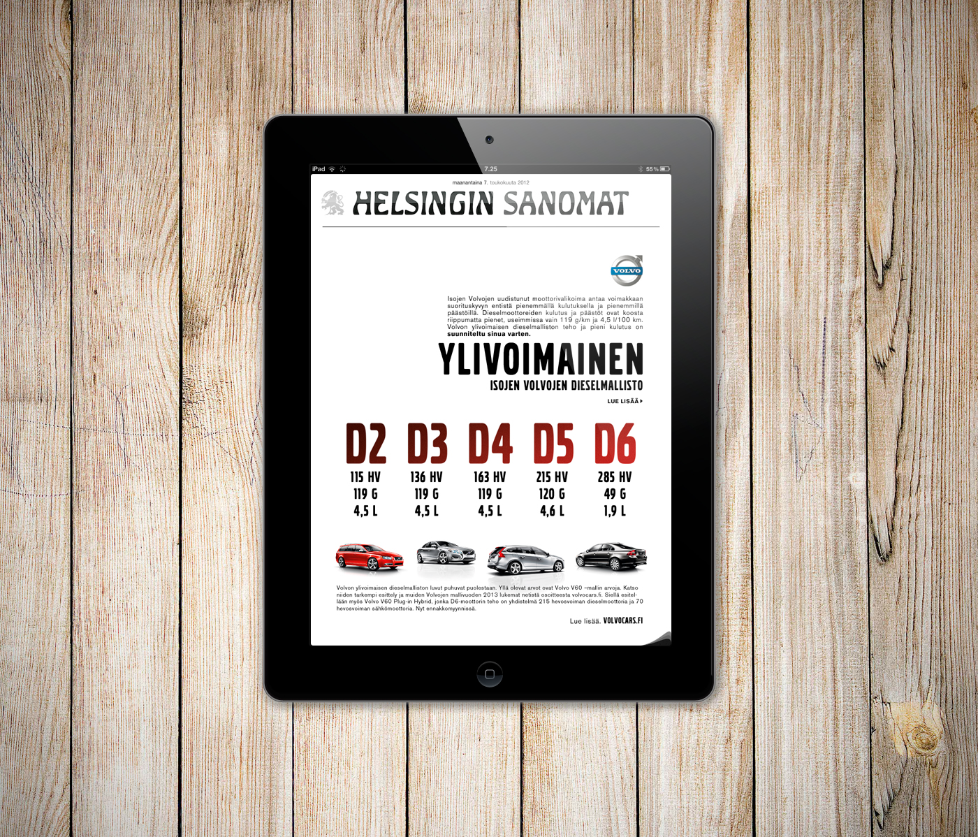 Volvo MY12 iPad