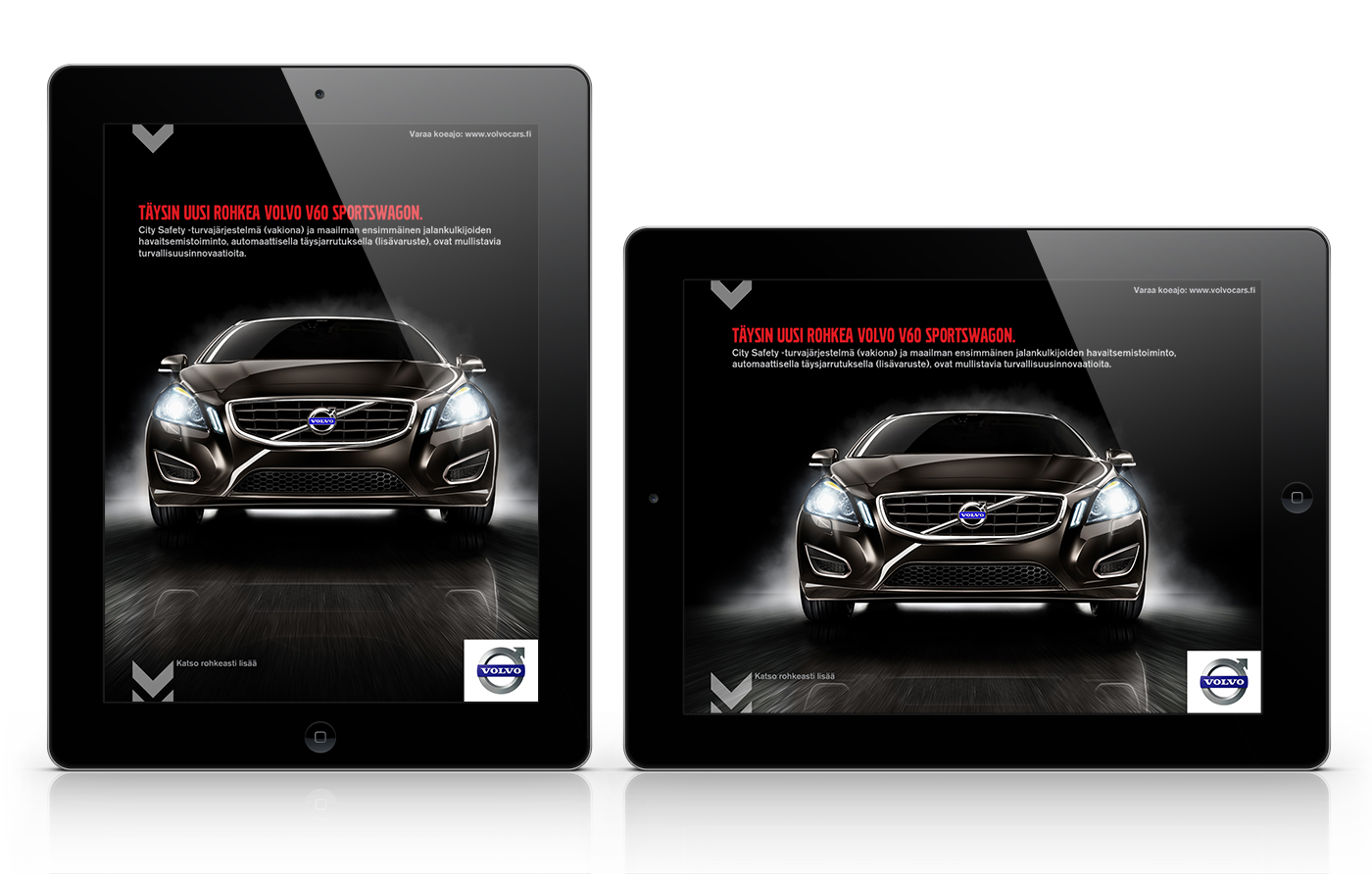 Volvo V60 tab ad