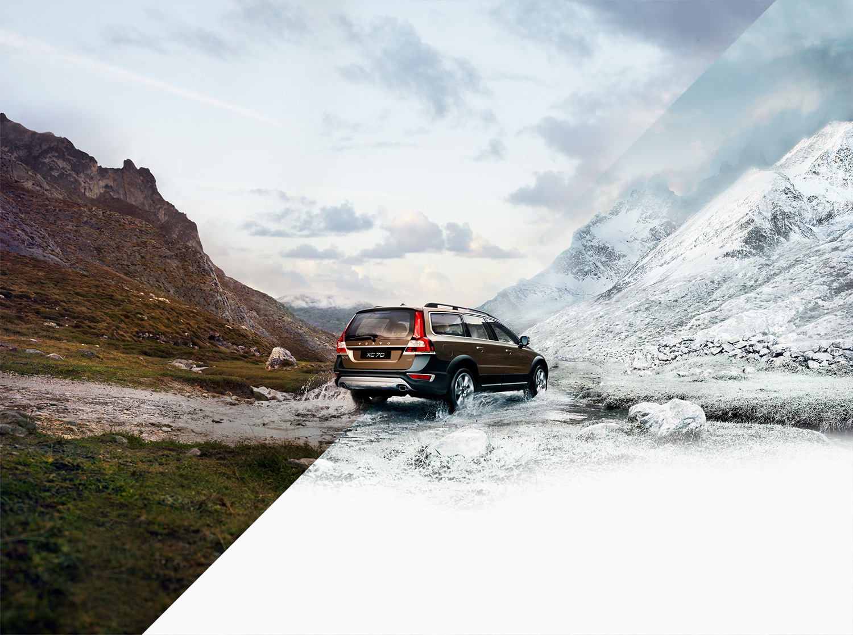 Volvo XC70 AWD campaign hero