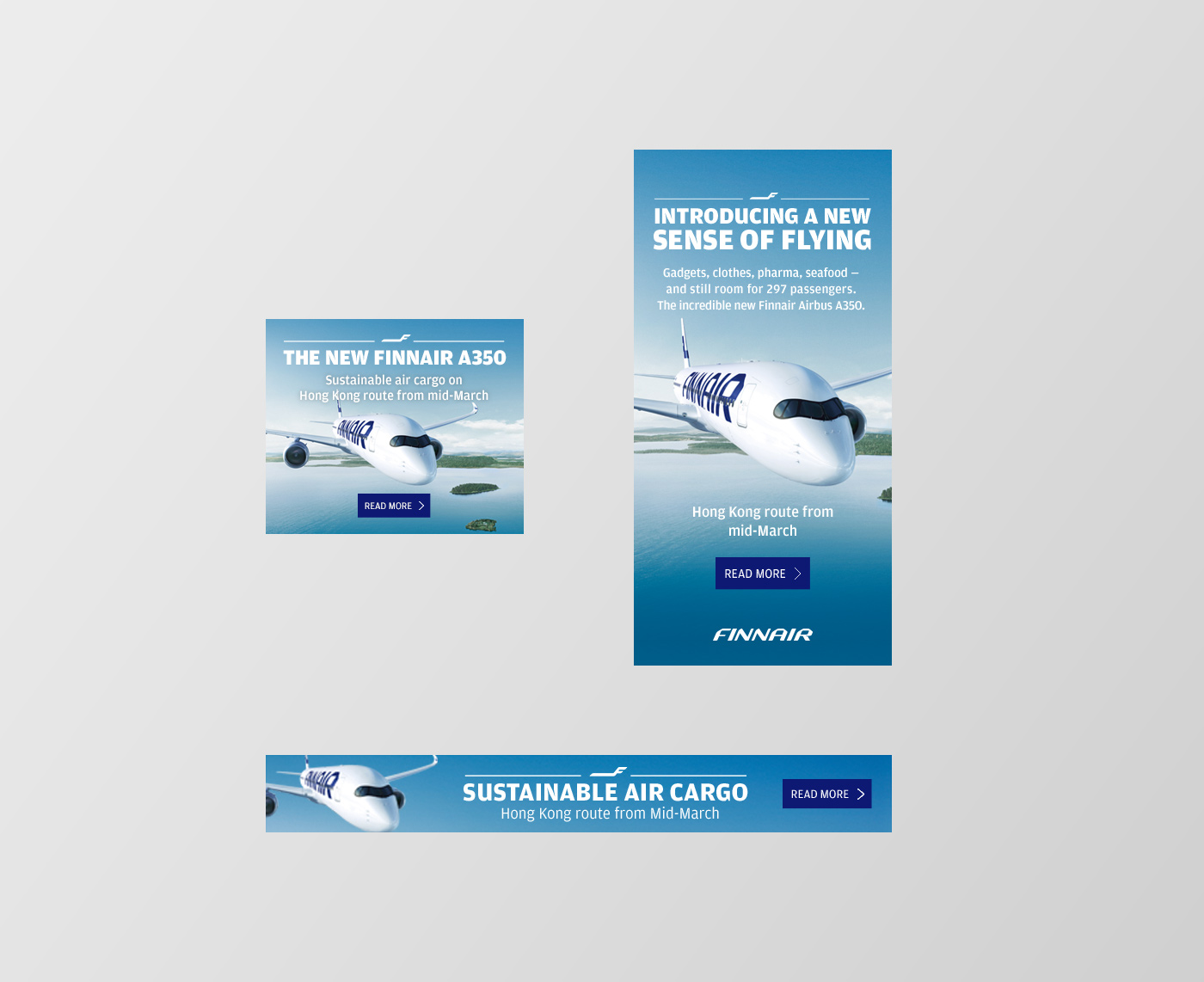 Finnair Cargo banner ads