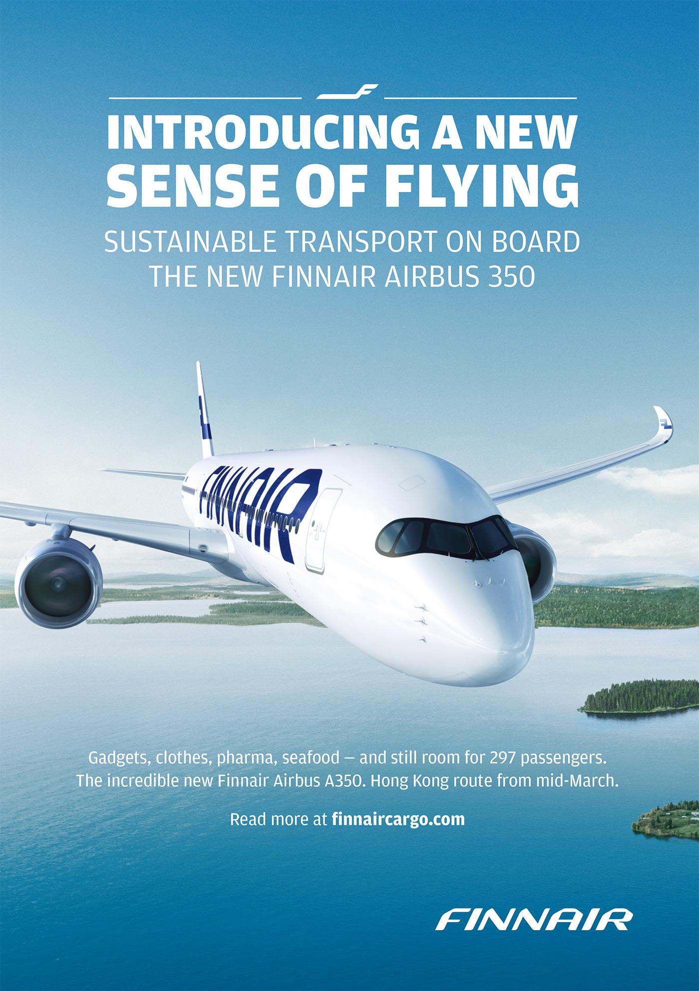 Finnair Cargo Print ad