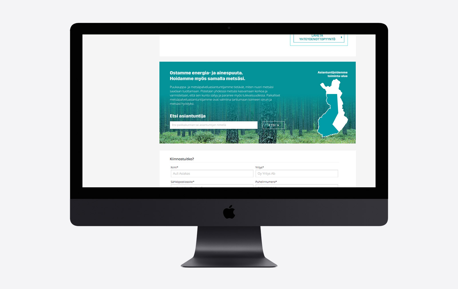 L&T verkkosivusto - Metsäasiantuntijat haku