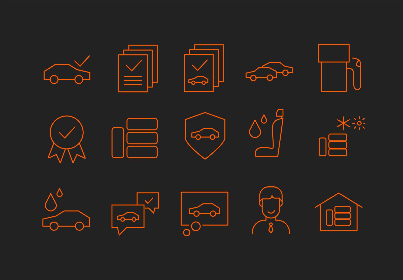 CAARA Leasing icons
