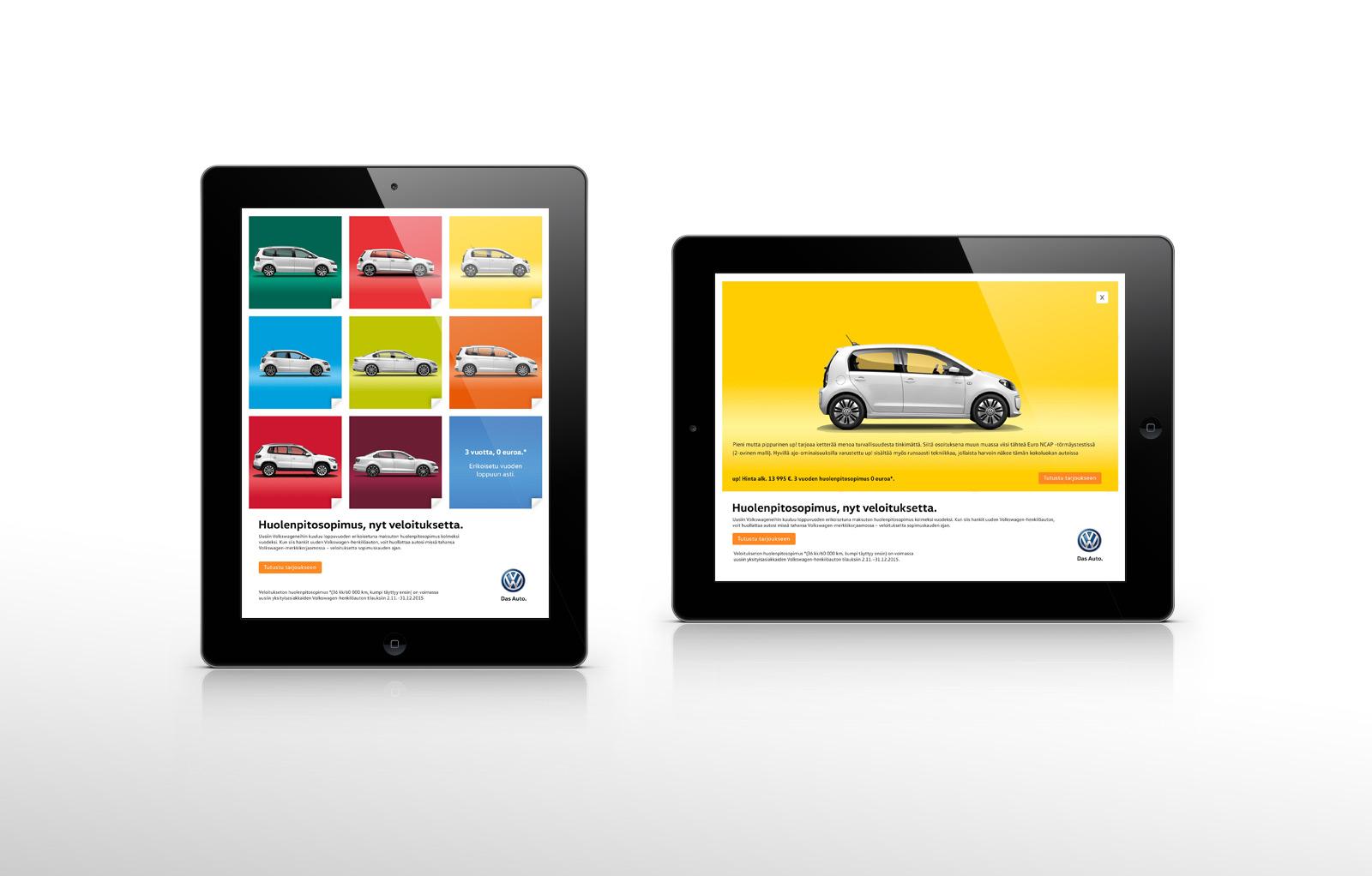 Volkswagen Huolenpitosopimus iPad