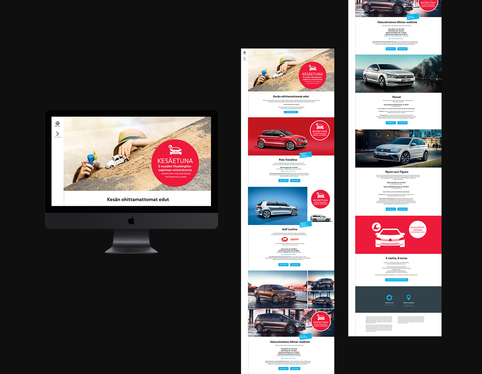 Volkswagen summer campaign website