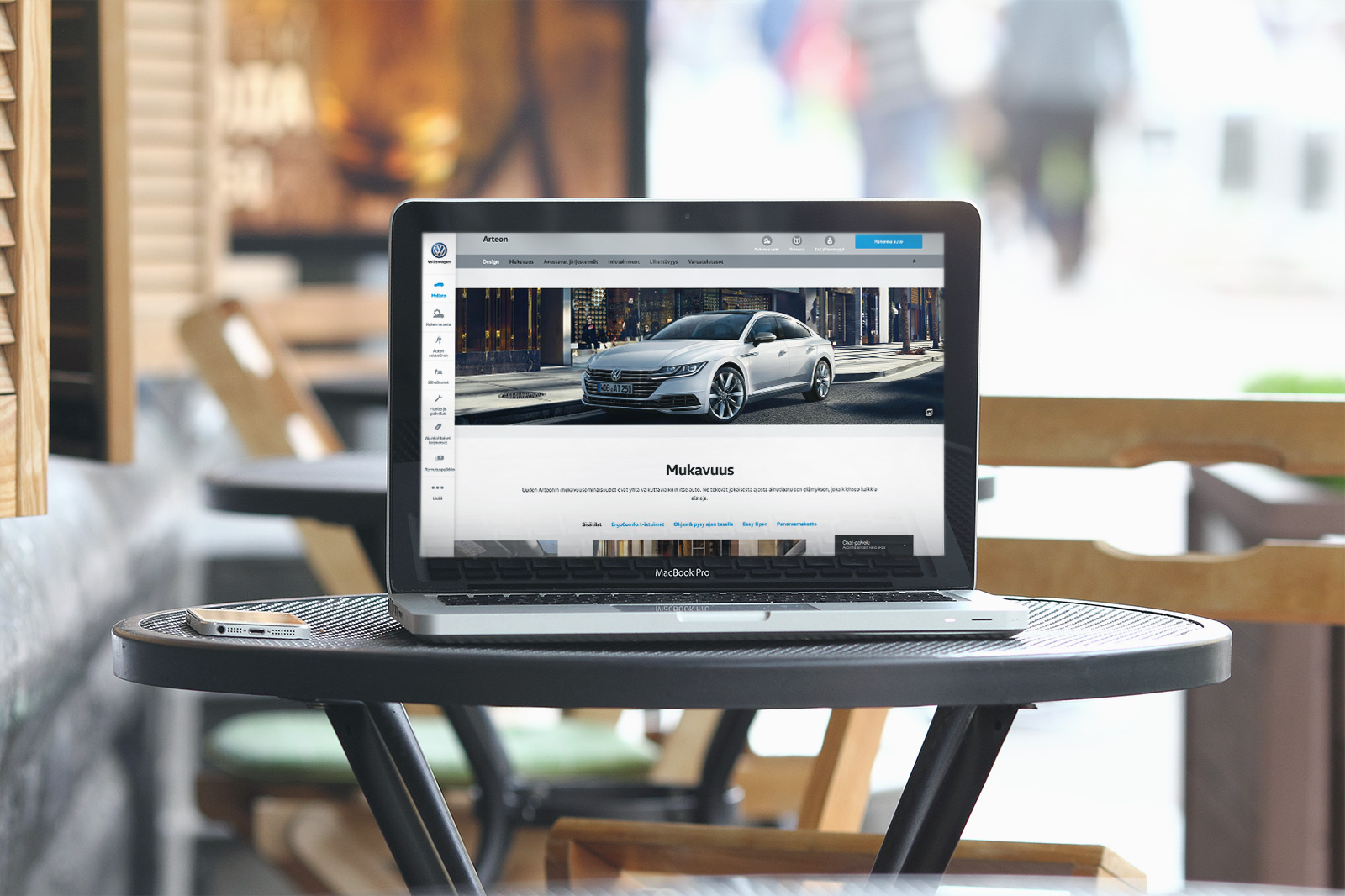 Volkswagen website desktop mockup